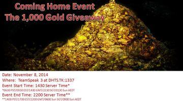 November 1,000 Gold Giveaway